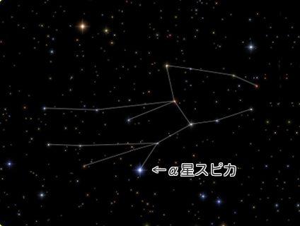 乙女座 星座線