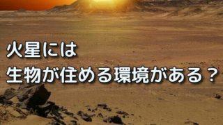 火星 生物 環境